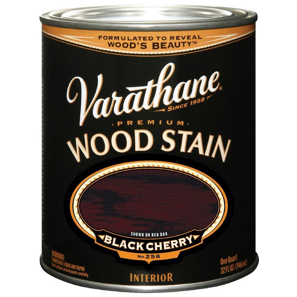 Varathane 1 Qt Black Cherry Wood Stain 241411h The Home