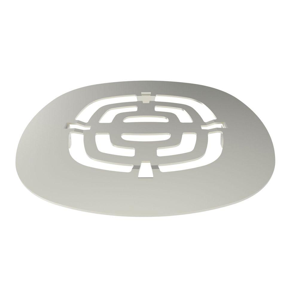 4-1/2 in. Shower Drain Cover in Satin Nickel