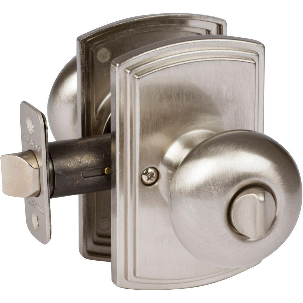 Delaney Italian Collection Santo Satin Nickel Bed Bath Door Knob 362601 The Home Depot