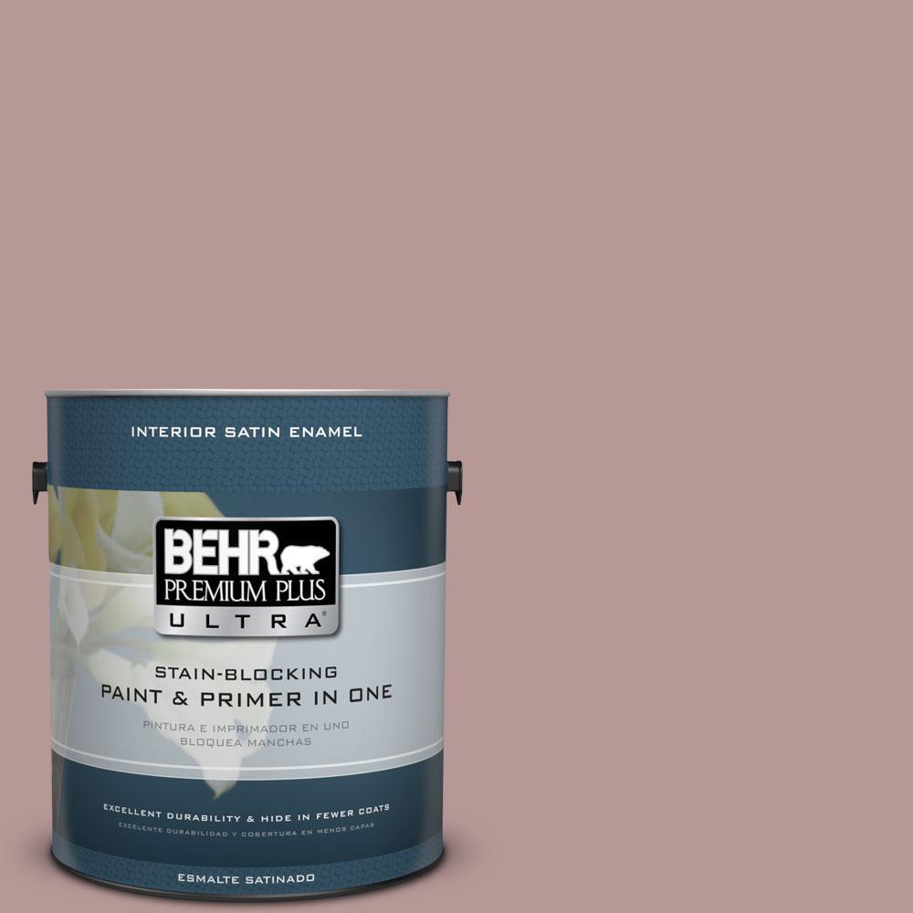 BEHR Premium Plus Ultra 1-gal. #130F-4 Fond Memory Satin Enamel Interior Paint