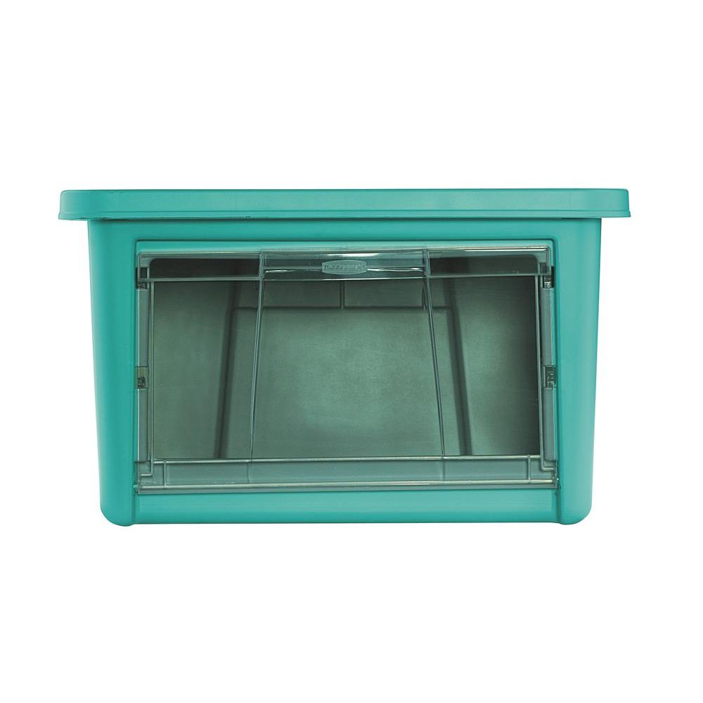 Rubbermaid 19.5 in. L x 17.5 in. W x 11.6 in. H Small Access Organizer in Turquoise