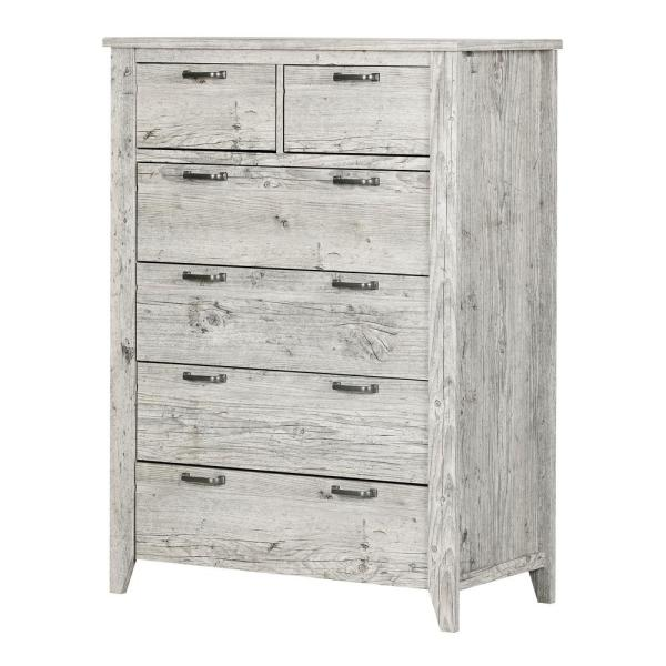 South Shore Lionel 6-Drawer Seaside Pine Chest