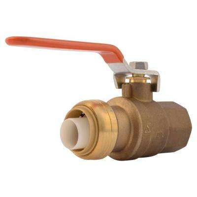 1 in. Brass Push-to-Connect x Female Pipe Thread Ball Valve
