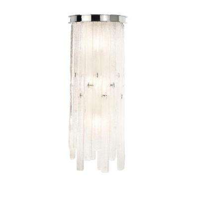 Candice Collection 3-Light Chrome Sconce