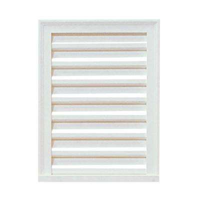 12 in. x 24 in. x 2-5/8 in. Primed Polyurethane Decorative Rectangle Louver Vent in White