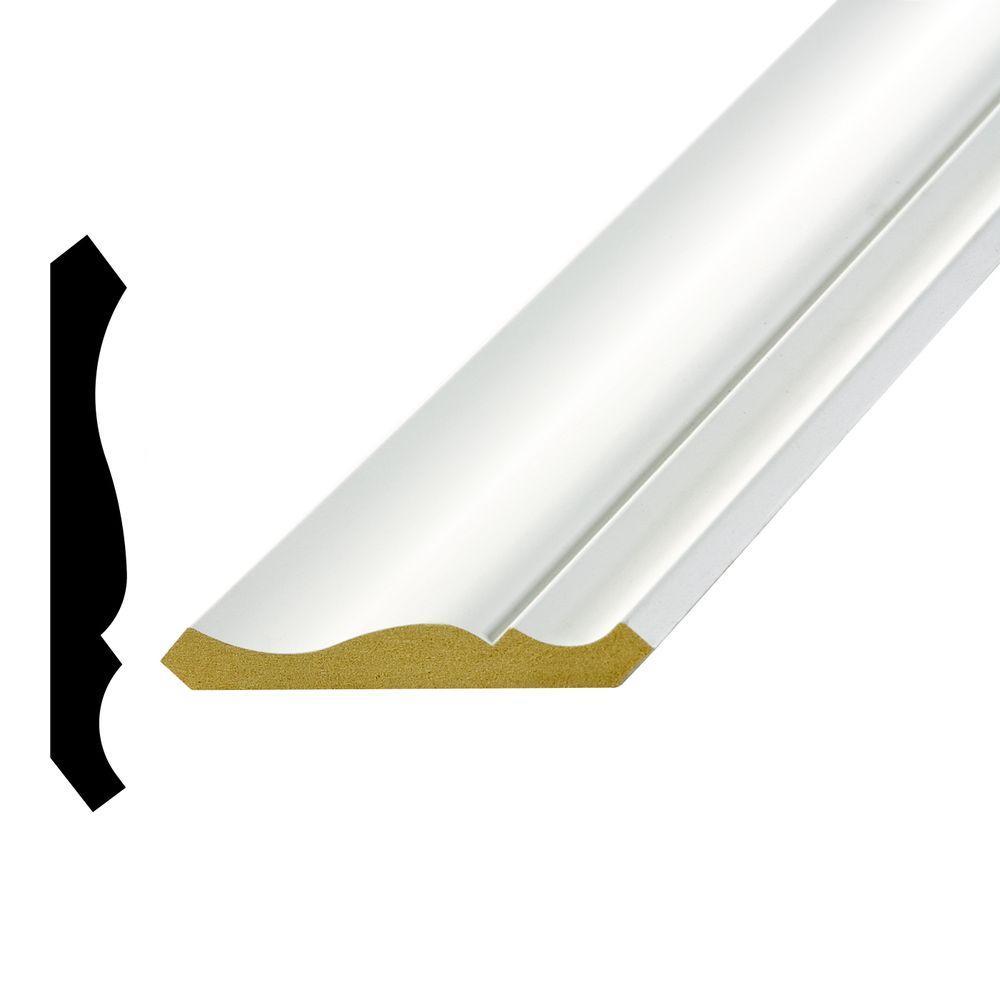 LWM 47 9/16 in. x 4-5/8 in. x 96 in. Primed Medium Density Fiberboard Crown Moulding