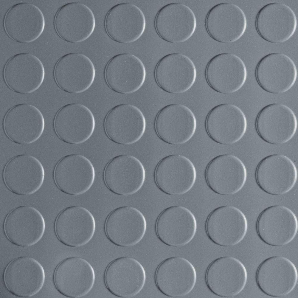 Coin 5 ft. Wide x Your Choice Length Grey Commercial Grade Vinyl Flooring