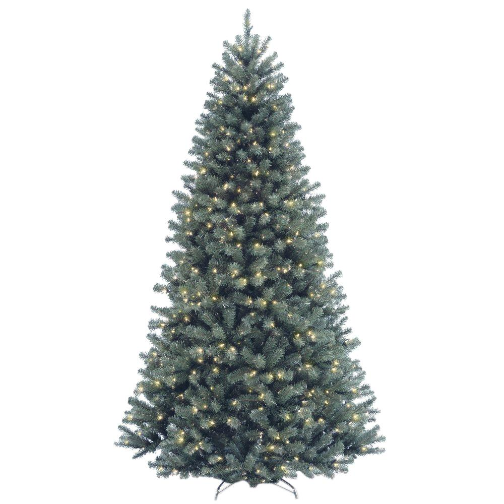 national tree company 7 12 ft north valley spruce blue hinged artificial - National Christmas Tree Company