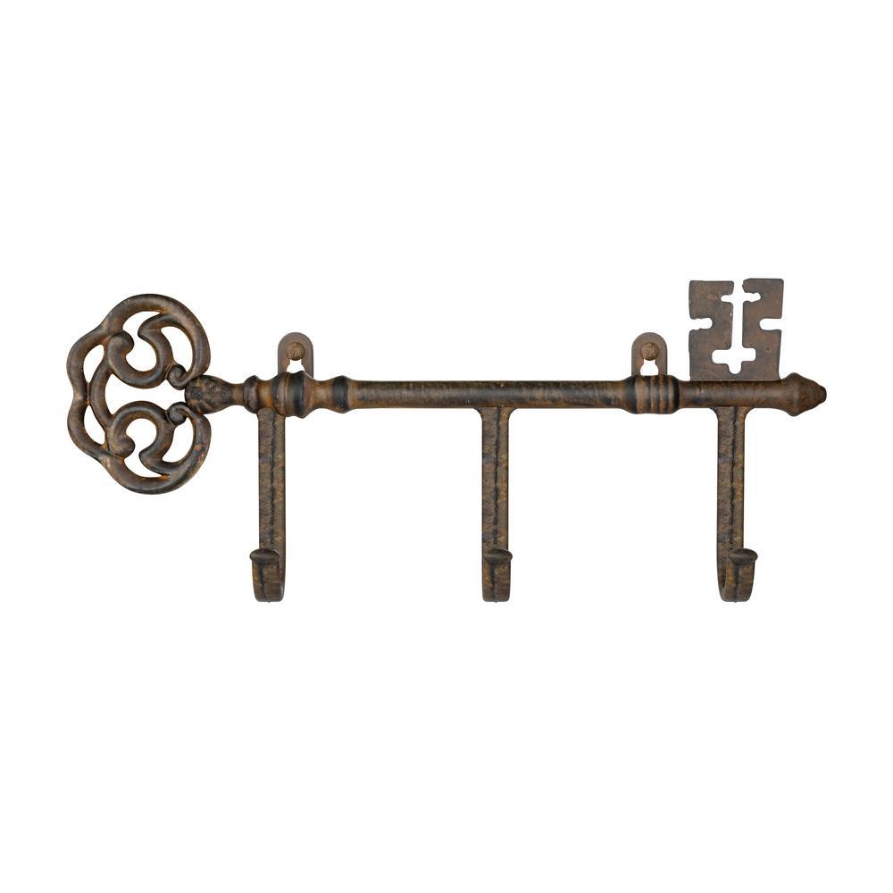 Lavish Home 3 Pronged Cast Iron Rustic Decorative Skeleton