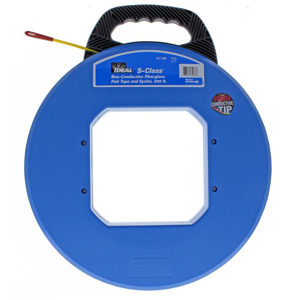 Ideal tuff grip pro 200 ft s class fiberglass fish tape for Fish tape home depot