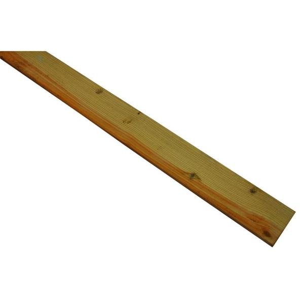 1 in. x 4 in. x 8 ft. Ground Contact Pressure-Treated Board
