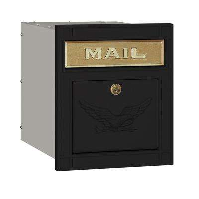 4100 Series 11.5 in. W x 13.25 in. H x 15.75 in. D Black Locking Eagle Door Cast Aluminum Column Mailbox