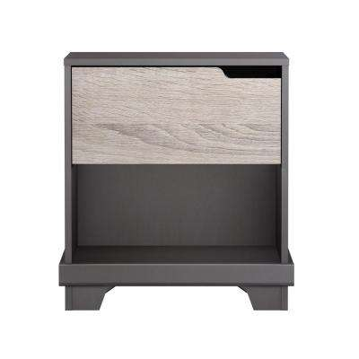 Waterloo 1-Drawer Java Brown/Sonoma Nightstand