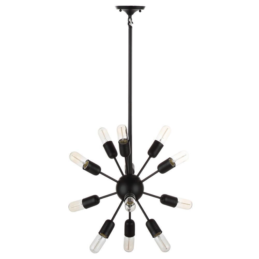 Raging 12-Light Black Solace Sputnik Pendant
