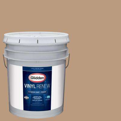 5 gal. #HDGWN20 Warm Caramel Low-Lustre Exterior Paint with Primer