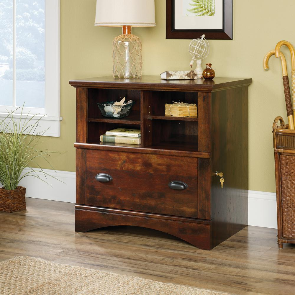 Sauder Harbor View Curado Cherry Lateral File Cabinet With