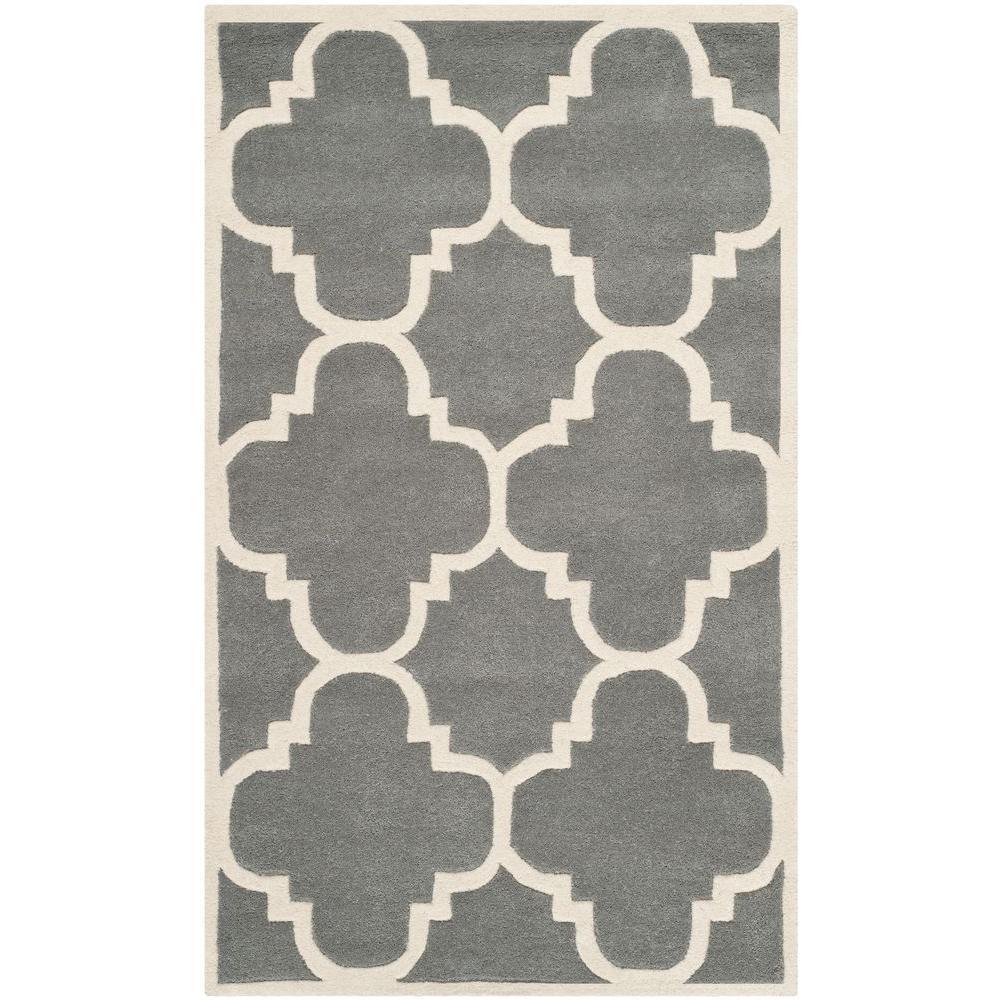 Safavieh Chatham Dark Grey/Ivory 3 ft. x 5 ft. Area Rug