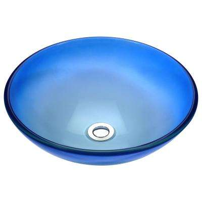 Stellar Series Deco-Glass Vessel Sink in Caribbean Shore