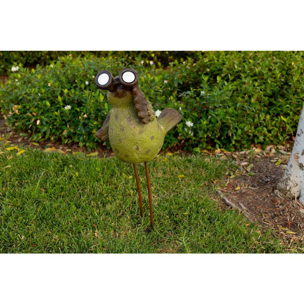Solar Chicken with Binoculars Statue