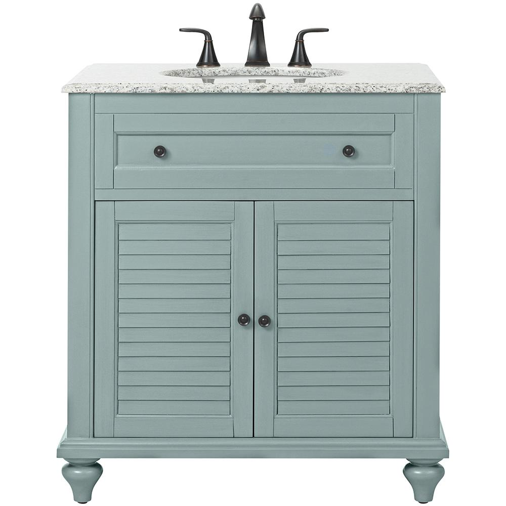 Home decorators collection hamilton shutter 31 in w x 22 for Bathroom vanity tops