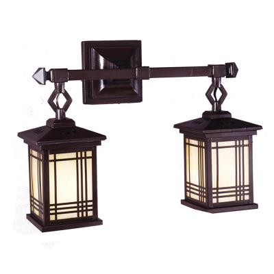 Avery Lantern 2-Light Antique Bronze Wall Sconce