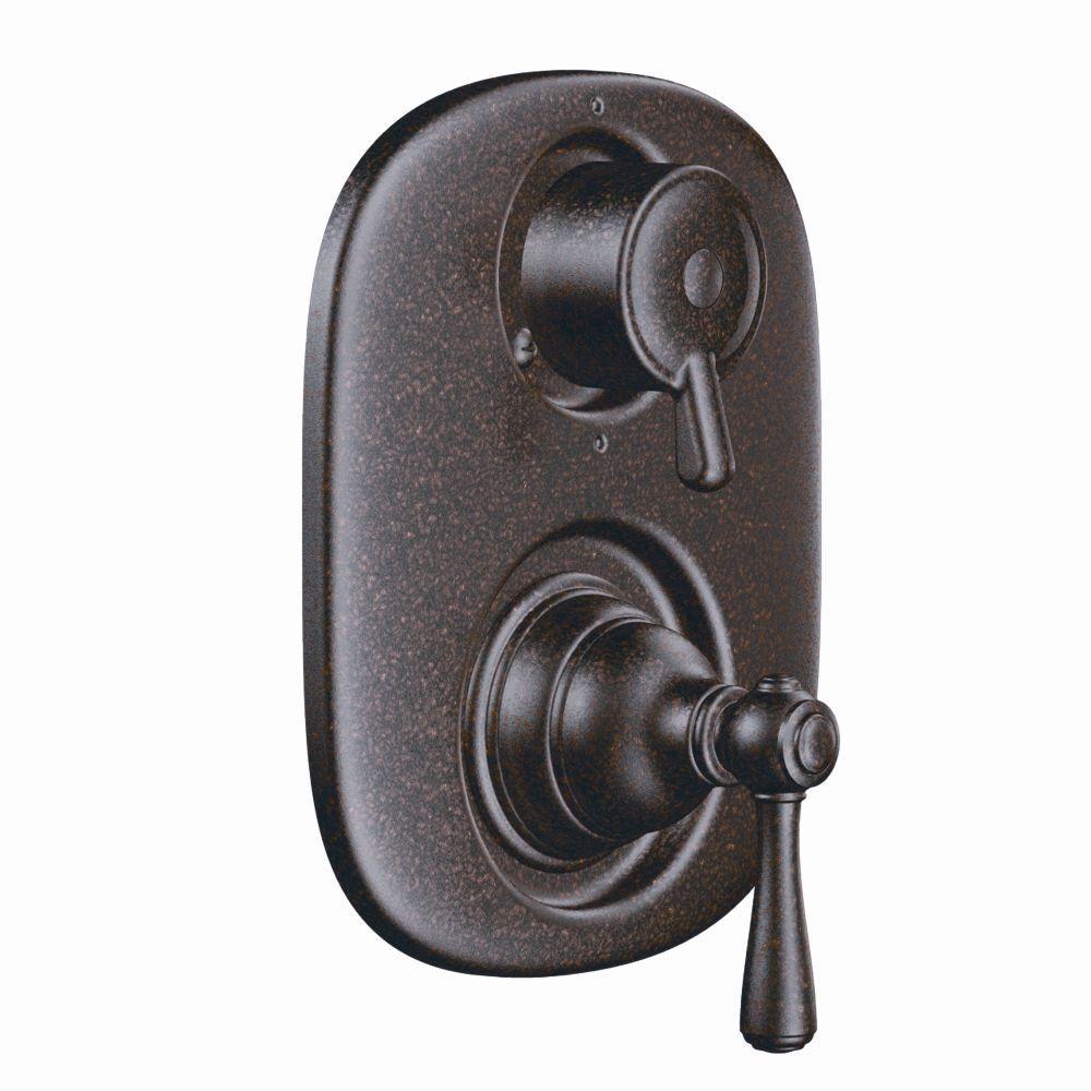 MOEN Kingsley 2-Handle Moentrol Valve Trim Kit in Oil-Rubbed Bronze ...
