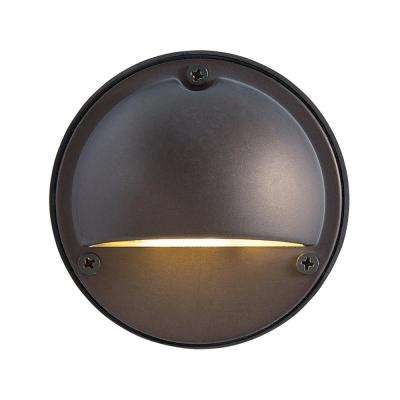 1-Light Bronze Outdoor Integrated LED Wall Mount Sconce