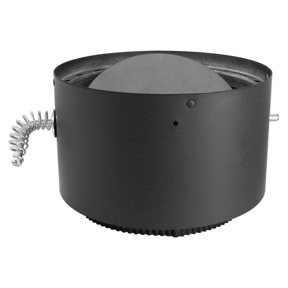 DVL 6 in. Adapter/Damper Section in Black