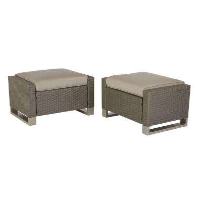 Broadview Patio Ottomans in Sunbrella Spectrum Dove (2-Pack)