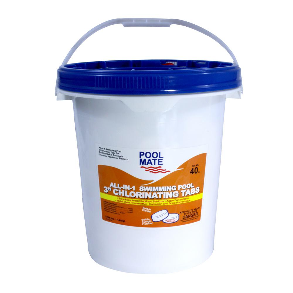 Pool Mate 40 lb. Pool All-in-1 3 in. Chlorinating Tablets
