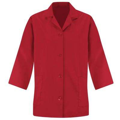 Women's Size L Red Smock Sleeve