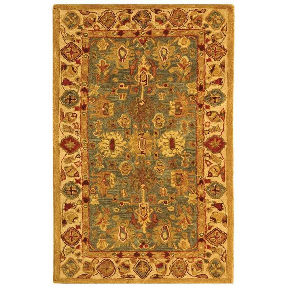 Anatolia Blue/Ivory 3 ft. x 5 ft. Area Rug