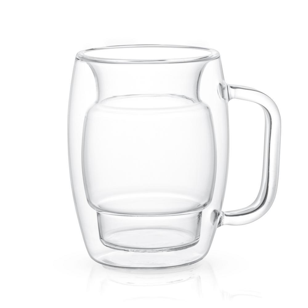 Cadus 10 oz. Double Wall Coffee Glasses (Set of 4)