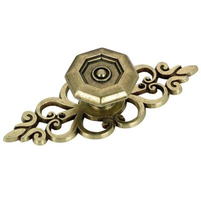 4 in. x 1-1/2 in. (102 mm x 38.1 mm) Antique English Transitional Metal Cabinet Knob