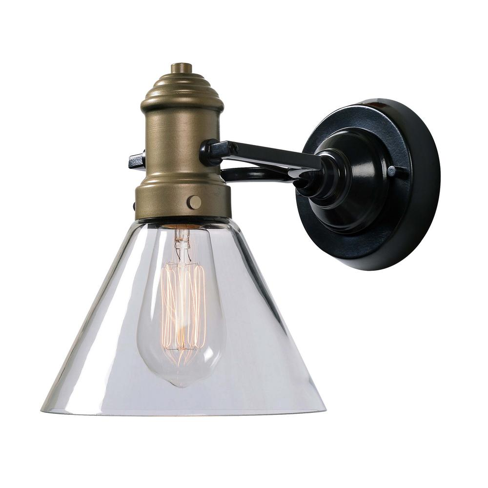 Kenroy Home Outlook 1 Light Antique Brass Wall Sconce 93930orb The