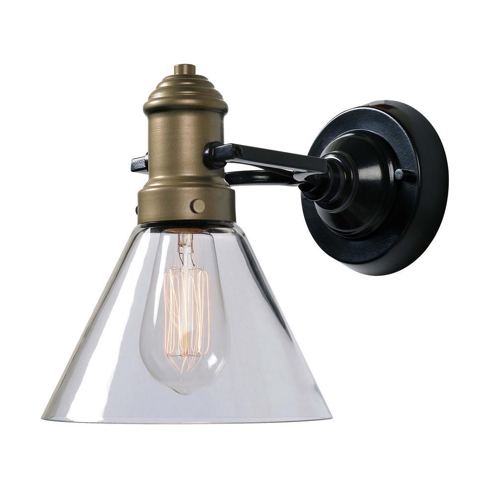 Outlook 1-Light Antique Brass Wall Sconce