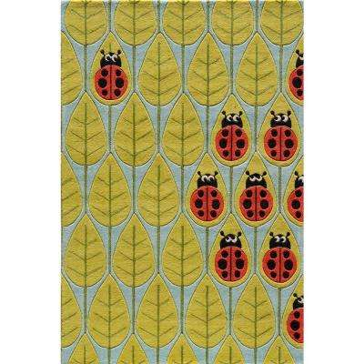 Caprice Lady Bug Blue 2 ft. x 3 ft. Indoor Area Rug