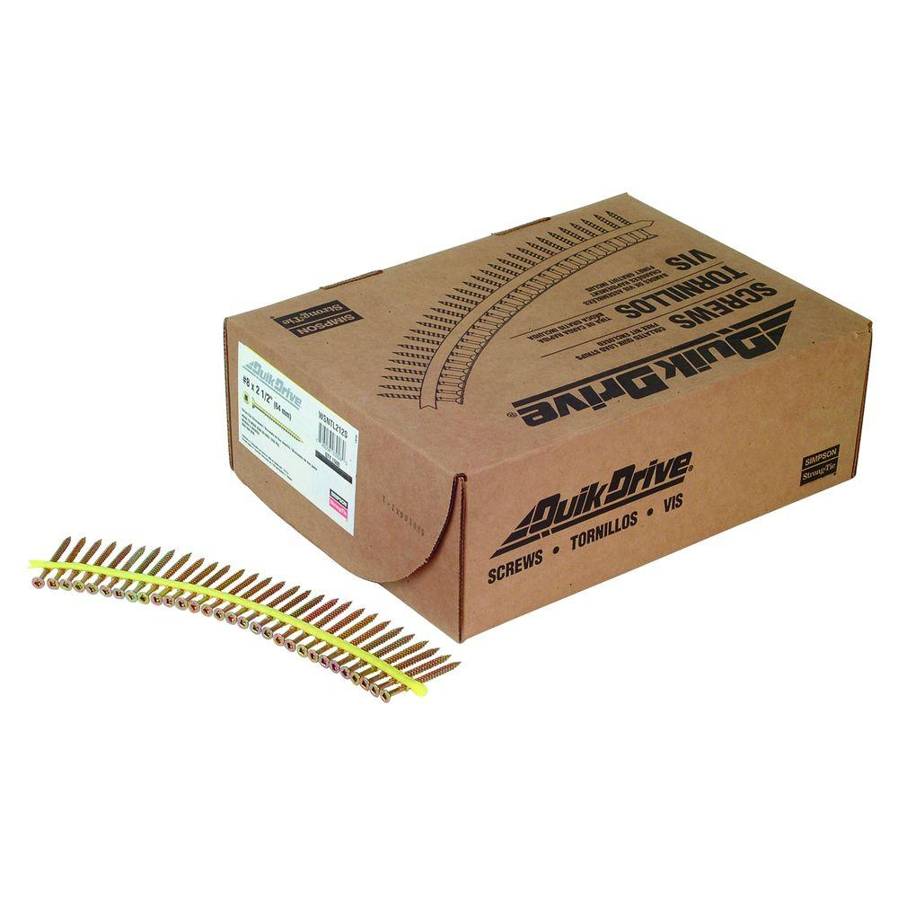 Simpson Strong-Tie #8 2-1/2 in. Square Flat-Head Strong-Drive WSNTL Collated Subfloor Screw (1,500 per Pack)