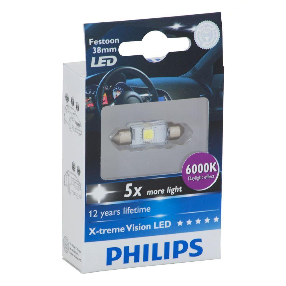 Philips X-treme Vision LED 6000K 38 mm Interior Light