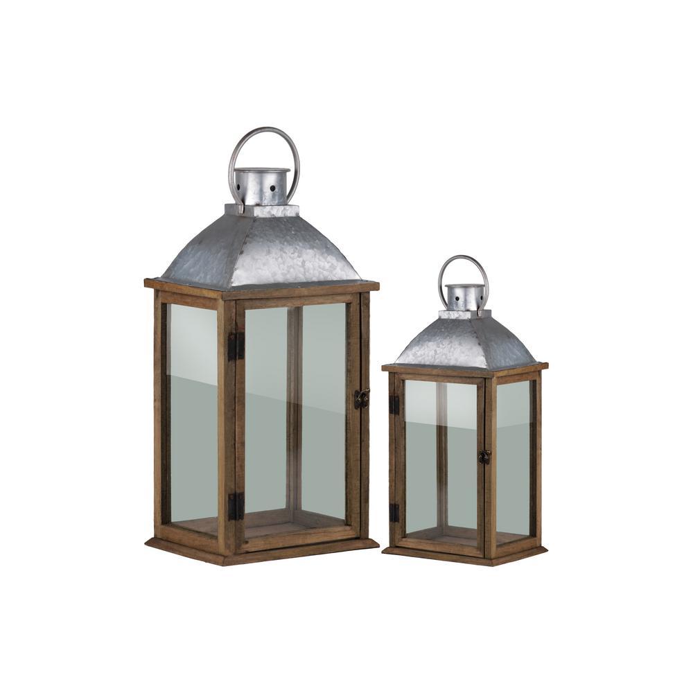 Pewter Candle Lantern Decorative Lantern