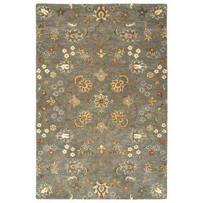 Helena Pewter Green 4 ft. x 6 ft. Area Rug