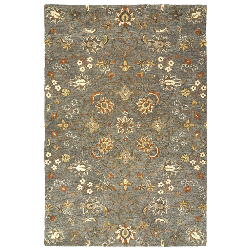 Kaleen Helena Turquoise Area Rug Reviews: Kaleen Helena Pewter Green 8 Ft. X 10 Ft. Area Rug-3215