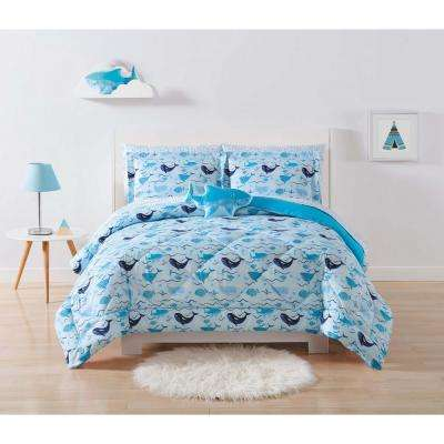 Kids Deep Blue Sea Full/Queen Comforter Set