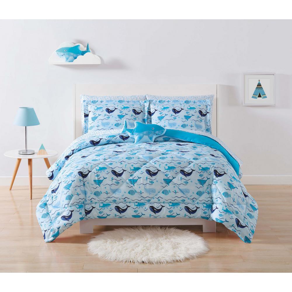 Kids Deep Blue Sea Multi Twin XL Comforter Set