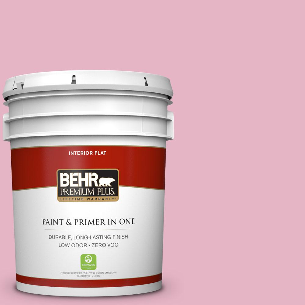 5 gal. #HDC-SP16-10 Japanese Rose Garden Zero VOC Flat Interior Paint