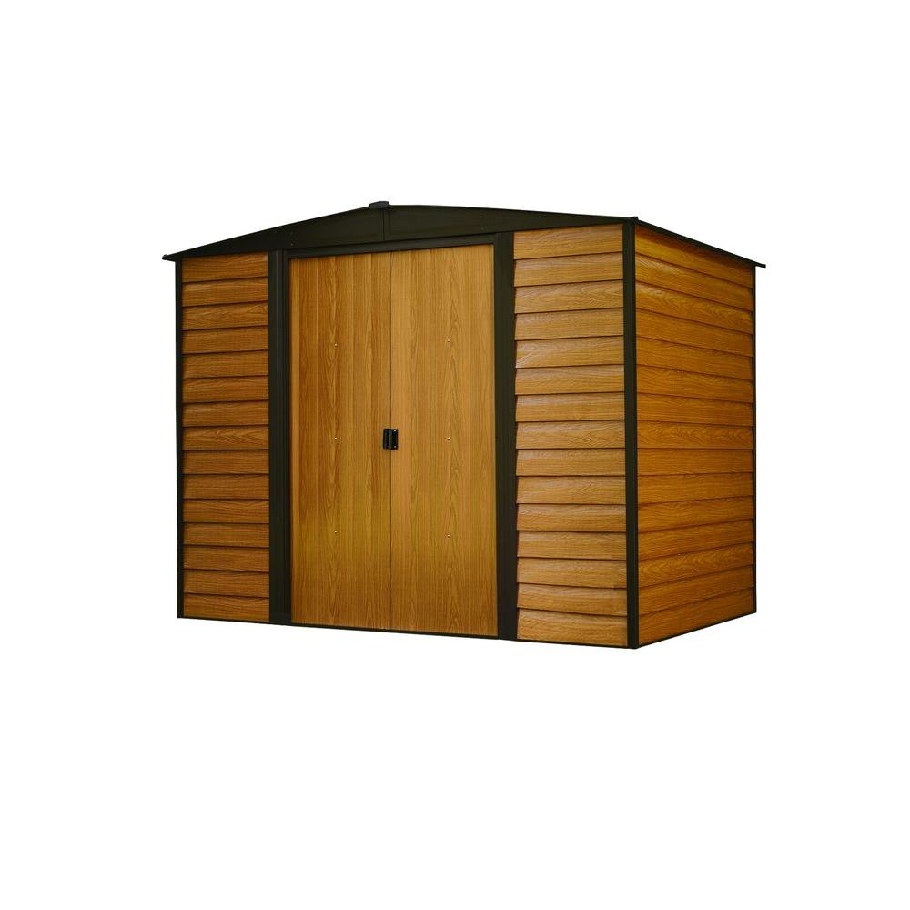 arrow woodridge 6 ft x 5 ft metal storage building wr65 the home depot