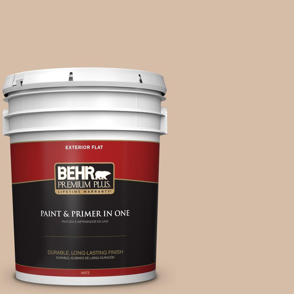 Home Decorators Collection 5-gal. #HDC-MD-12 Tiramisu Cream Flat Exterior Paint