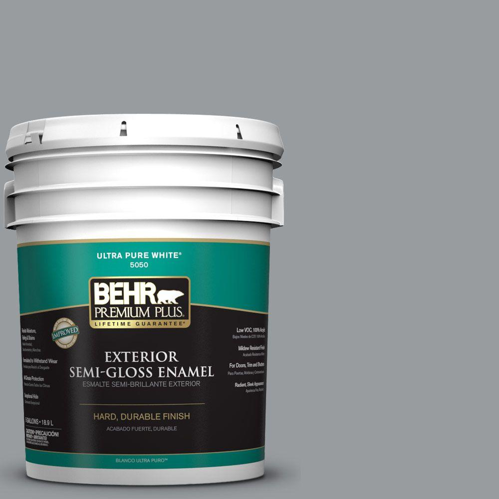 5-gal. #N500-4 Pencil Sketch Semi-Gloss Enamel Exterior Paint