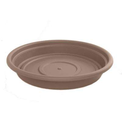 Dura Cotta 16 in. Chocolate Plastic Saucer