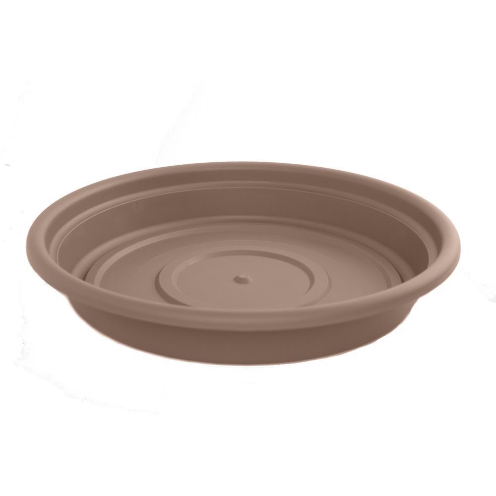 Dura Cotta 12 in. Chocolate Plastic Saucer